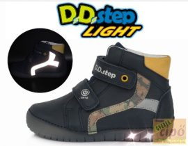 D.D.Step világítós, villogó cipő 050-944 kék 34