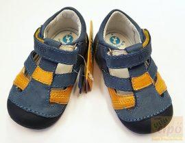 D.D.Step első lépés szandálcipő, kék-mustár 19