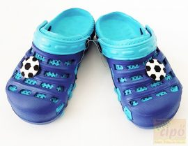 Gyerek fiú klumpa,papucs kék foci 19