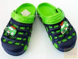 Gyerek fiú klumpa,papucs kék-zöld 19