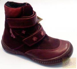 LineaTex vízálló téli cipő, bordó 34,keskeny,normál lábra