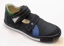 Linea szandálcipő,felvezető pántos kék 32
