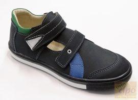 Linea szandálcipő,felvezető pántos kék 36
