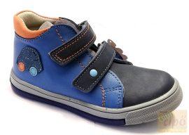 Linea kék bőr fiúcipő autó mintával 20