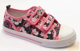 Padini tornacipő farmerkék-rózsa virág mintával 36