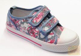 Padini tornacipő kék-rózsa virág mintával 36