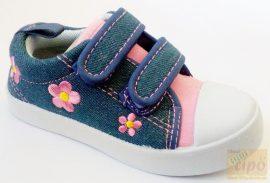 Si-mode lány vászoncipő, fehér  talppal 29
