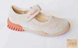 Si-Mode szandálcipő beige-narancs 29
