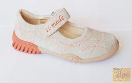 Si-Mode szandálcipő beige-narancs 34