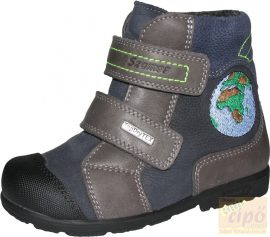 Szamos Tex vízálló supinált, téli,bélelt cipő/bakancs  1377-27709 kék 21