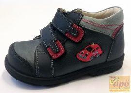 Szamos 1582-30709 supinált cipő, hímzett autó mintával 21