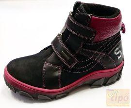 Szamos 1540-17042 DryTex vízálló, bélelt ,téli cipő/bakancs  fekete rózsa lány 38