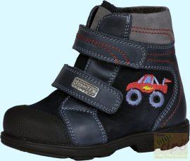 Szamos Tex 1541-27709 vízálló supinált, téli,bélelt cipő/bakancs sötétkék, piros autós 34