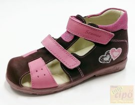 Szamos supinált lány szandál 4217-40749 bordó pink 19