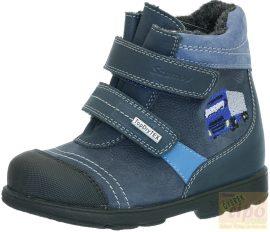 Szamos Tex vízálló supinált, téli,bélelt cipő/bakancs 1448-27709 kék 20