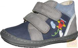 Szamos első lépés cipő 1498-10677 kék,hímzett repülővel 18