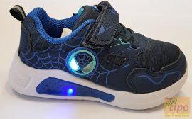 Wink sportos textil cipő,kék,lépéskor villogó talppal 22