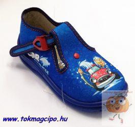 Zetpol Piotrus vászoncipő kék autós 27