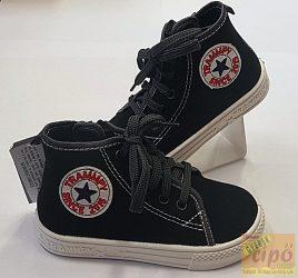 Zetpol Stas magasszárú zippzáros,fűzős tornacipő ,fekete 29