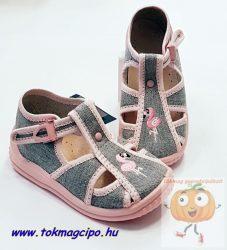 ZetpolTosia vászoncipő,szürke-rózsa flamingós 25